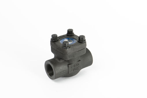 Picture of Non -return valve,Natco,API design,DN50mm,screwed NPT Female x female,800# rated,lift type bolted bonnet, A105 forged steel